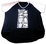 Tiki Faces ladies raglan tee