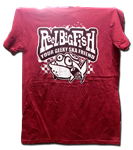SMALL ONLY - Geeky Ska Friend distressed heather red tee