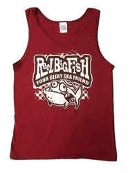 Geeky Ska Friend burgundy tank