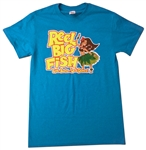 Hula Girl heather sky blue tee