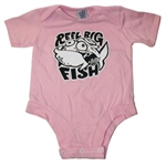 6 mos only - Pink Silly Fish onesie