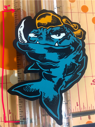 "Mean Fish 3"" magnet"
