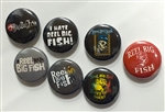 7-pack pinback buttons - style #2