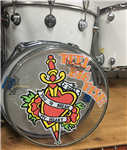 Hand-painted drum head - v13-2