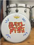 Hand-painted drum head - v13-4