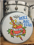 Hand-painted drum head - v13-6
