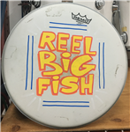 Hand-painted drum head - v13-8