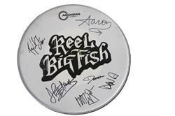 autographed drum head used by band white. Black Bedroom Furniture Sets. Home Design Ideas