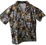 Tiki Faces Limited Edition Hawaiian shirt - TWO EXTRA LARGE (XXL)