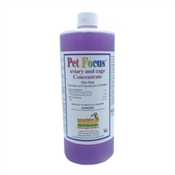 Pet Focus Aviary and Cage Cleaner - Concentrate - Quarts - Case of 12
