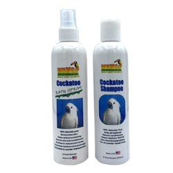 Cockatoo Shampoo & Bath Spray Set - 8 oz each