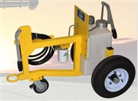 5-GALLON HYDRAULIC AND ENGINE OIL TOWABLE CART DISPENSER