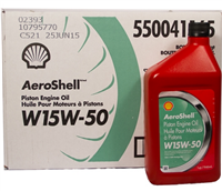 AEROSHELL  W15W50 PISTON ENGINE OIL - INDIVIDUAL QT