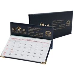 Diplomat Desk Calendar, with two metal corners