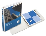 "1"" White Overlay Angle D Ring Binder"