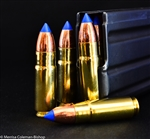 458 SOCOM 300 grain TTSX Solid Copper Ammunition  displayed in magazine.