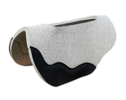 "3/4"" Gray Wool Felt Saddle Pad"