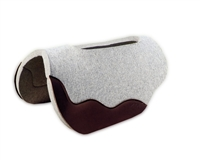 "1"" Gray Wool Felt Saddle Pad"