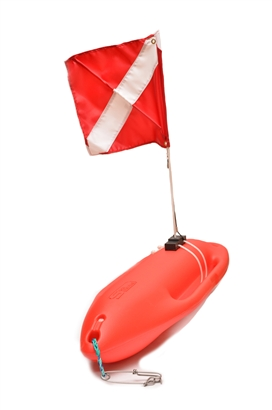 complete lifeguard spearfishing float with dive flag
