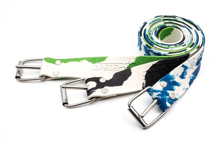 Green Rob Allen Marseilles Rubber Weight Belt w// SS Buckle