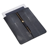 VIVO Shagreen & Leather Zip iPad Sleeve