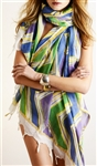 Ananda by Erika Falconeri Zig Zag Handpainted Wrap