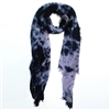Yak Mountain Looms Pure Cashmere Holey Web Felted Tie Dye Wrap