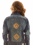 Sergio Gutierrez Liquid Metal Collection Blue Indigo Jean Jacket