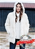Fabulous Furs Ivory Mink Couture Hooded Faux Fur Jacket