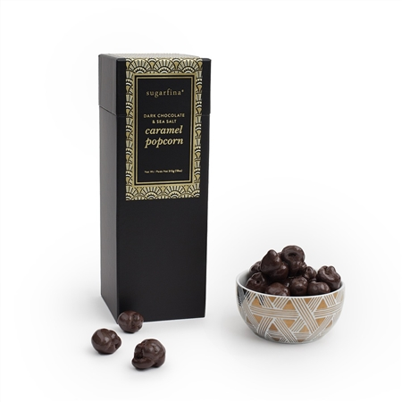 Sugarfina Dark Chocolate Sea Salt Caramel Popcorn Gift Box