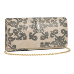 VIVO Deconstructed Print Genuine Shagreen Perfect Clutch
