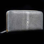 VIVO Studio Genuine Shagreen Full Size Zip Wallet in Solid Colors