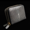 VIVO Studio Genuine Shagreen Double Zip Wallet