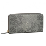 VIVO Studio Genuine Shagreen Full Size Zip Wallet – Deconstructed Flora Print