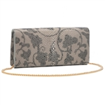 VIVO Vine Print Genuine Shagreen Perfect Clutch
