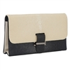 VIVO Genuine Shagreen Color Block Structured Bag with Chain