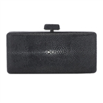 Vivo Genuine Shagreen Box Clutch
