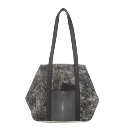 VIVO Baja II Hair On Hide + Shagreen Tote