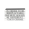 "E. Lawrence Ltd. Quotation Series: ""Different"" Coco Chanel 5 Volume Stack"