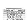 "E. Lawrence Ltd. Quotation Series: ""Elegance Is When…"" Coco Chanel 5 Volume Stack"