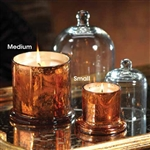 Zodax Mercury Glass Candle Jar with Glass Dome  - Small