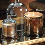 Zodax Mercury Glass Candle Jar with Glass Dome  - Medium
