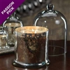 Zodax Mercury Glass Candle Jar with Glass Dome  - Large