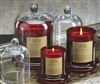Zodax Apothecary Guild Scented Candle Jar with Glass Dome - Red / Small