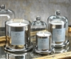 Zodax Apothecary Guild Scented Candle Jar with Glass Dome - Silver / Medium
