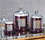 Zodax Apothecary Guild Scented Candle Jar with Glass Dome - Plum / Large