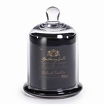 Zodax Apothecary Guild Scented Candle Jar with Glass Dome - Black / Medium