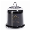 Zodax Apothecary Guild Scented Candle Jar with Glass Dome - Black / Small