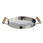 VIVO Genuine Shagreen Stainless Round Tray