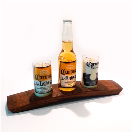 The Green Glass Company Tray For Candle Holders Made From Recycled Wine Slat